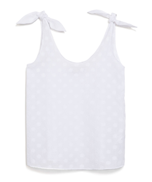 Zara Jacquard Top With Bow on Shoulder