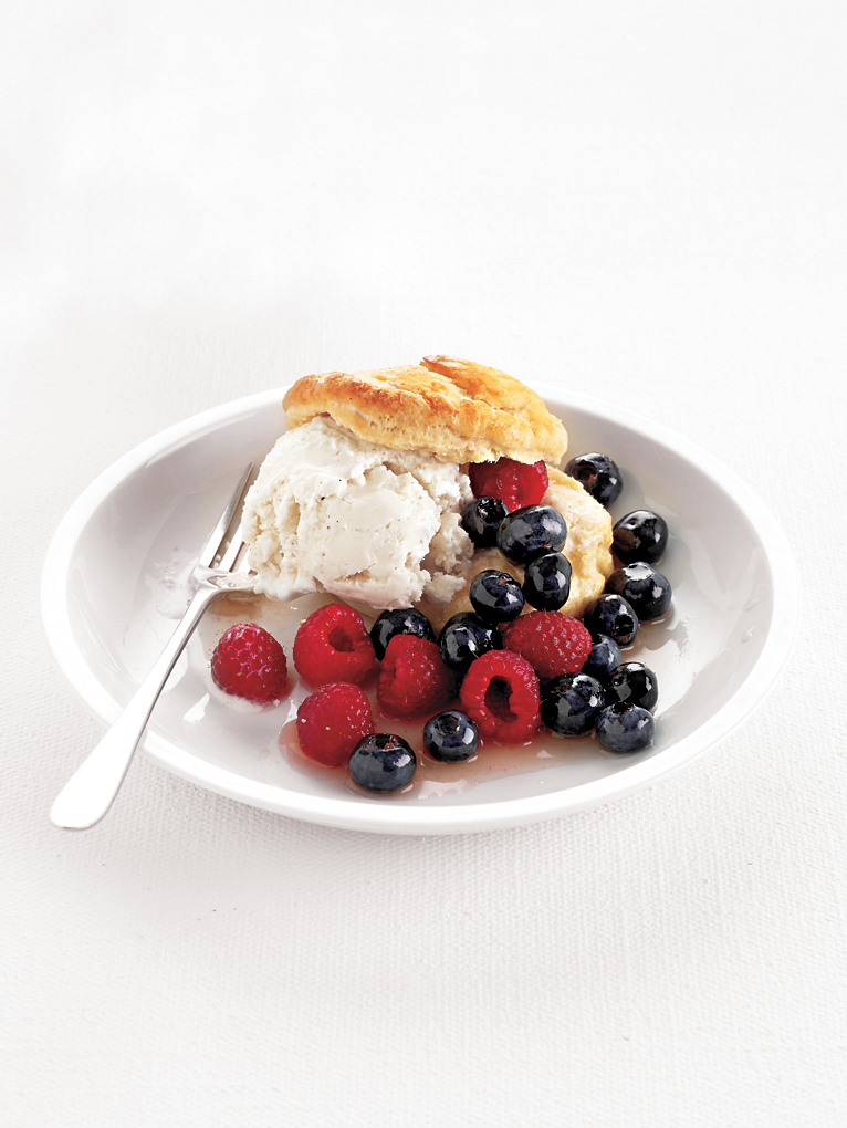 Berry and Ice Cream Shortcakes