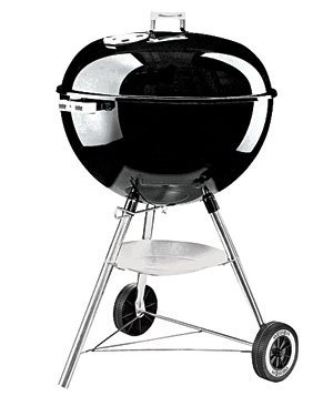 Weber One-Touch 18 1/2 inch-wide Silver Kettle barbecue grill