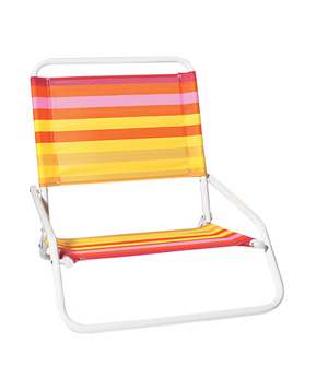 Striped beach chair