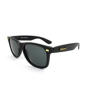Knockaround Matte Black Polarized Smoke Fort Knocks