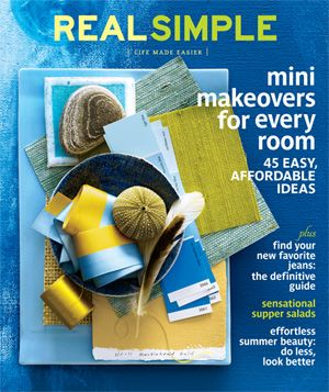 August 2011 cover image of green, gold and blue color and texture swatches