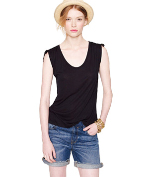 J. Crew Shoulder-Cinch Tee