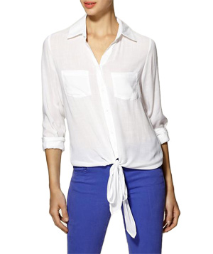 Tinley Road Outer Banks Tie Blouse