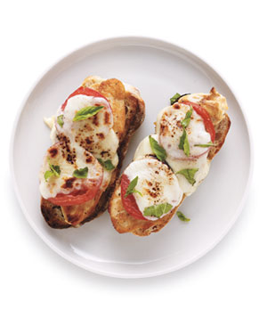Open-Face Chicken Caprese Sandwiches