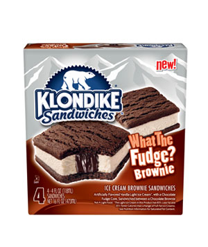 Klondike Sandwiches What the Fudge? Brownie