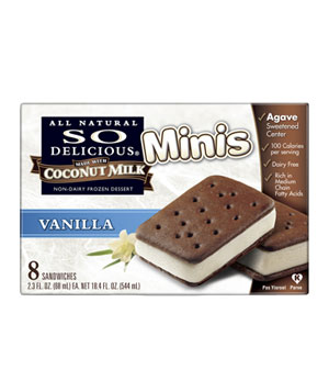 So Delicious Coconut Milk Vanilla Sandwich Minis