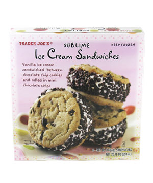 Trader Joe's Sublime Ice Cream Sandwiches