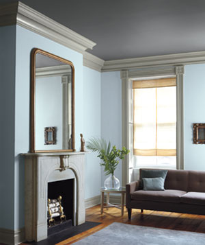 light gray living room. Blue and gray decorated living room Color Combinations for Your Home  Real Simple