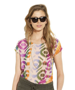 Madewell Electric Ikat Top
