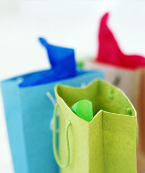 Colorful gift bags