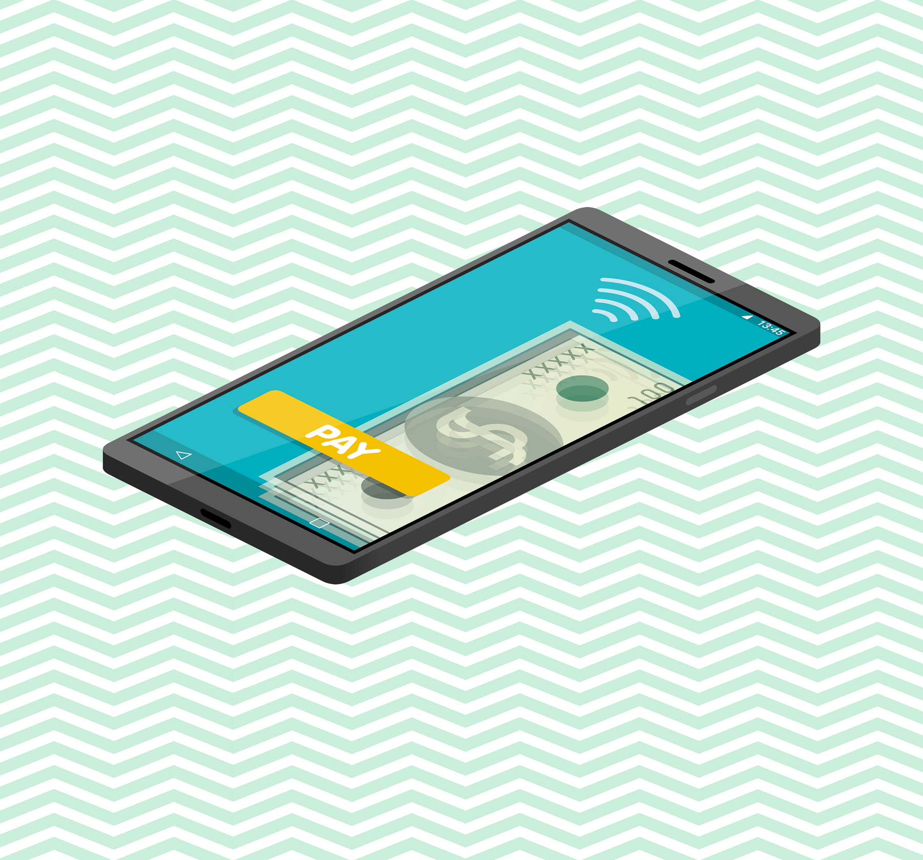 In-app purchases - phone with app on screen