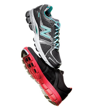 New Balance and Nike Free XT Motion athletic shoes