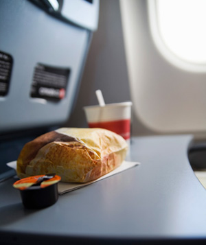 Meal on airplane
