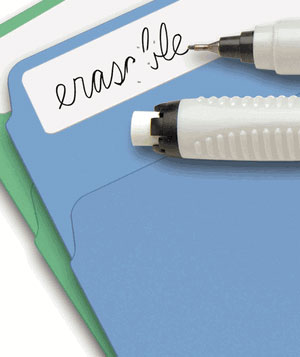 Erasable File Label Starter Kit with Pen