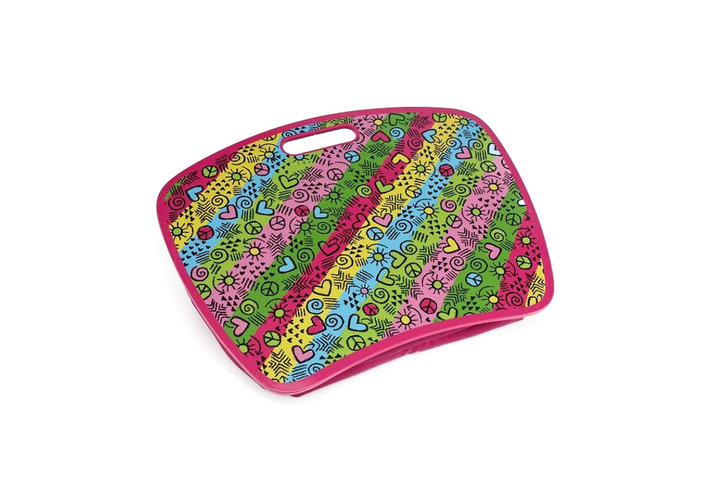 <p>Graffiti Neon Stripe Pink Lap Desk</p>