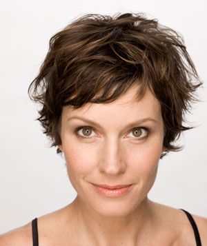 Model with a tousled, pixie cut