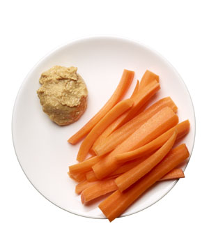 Carrots and peanut butter