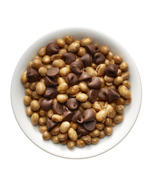 Soy nuts (¼ cup) plus 1 tablespoon chocolate chips