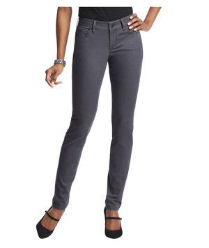 Loft Curvy Skinny Jeans in Mini Dot Coastal Grey Wash