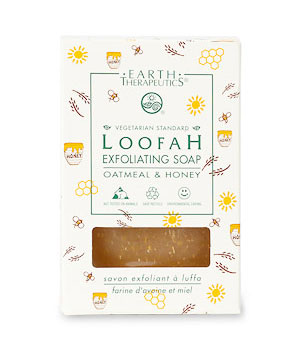 Earth Therapeutics Loofah Exfoliating Soap, Oatmeal and Honey