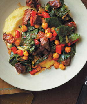 Lamb and Chickpea Ragù With Polenta