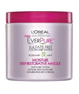 L'Oreal EverPure Moisture Deep Restorative Masque, Rosemary Mint