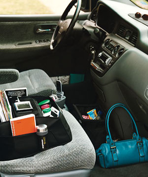 Organized car interior