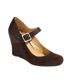 Nine West suede-and-leather wedges