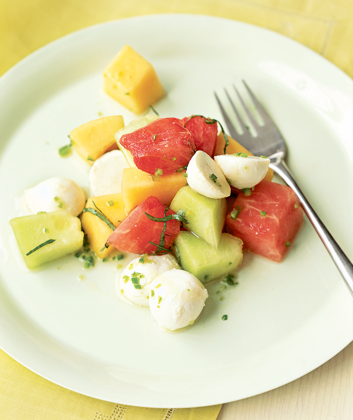 Three-Melon Mozzarella Salad
