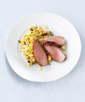 Brown Sugar-Glazed Pork and Grilled Corn