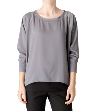 Calvin Klein Silky Ribbed Cuff Solid Top