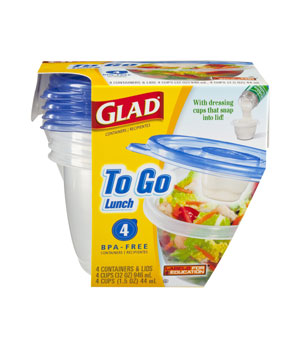 Glad To Go Lunch Containers