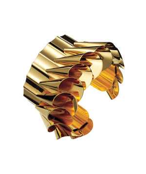 Roxanne Assoulin for Lee Angel gold-plated cuff