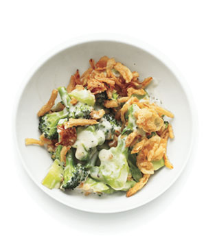 Broccoli Gratin With Crispy Onions