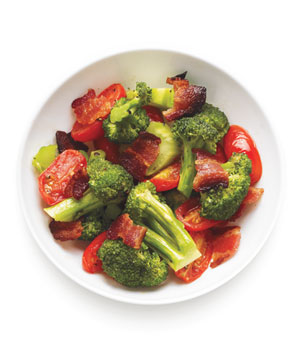 Sautéed Broccoli, Tomatoes, and Bacon