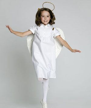 Girl in angel costume