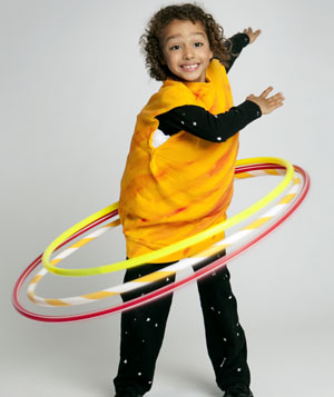 Girl in Saturn costume