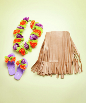 How To: Make Hula Girl Skirt