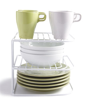 Tiered Dishware Shelf