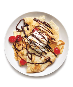 Cinnamon Tortilla Sundaes