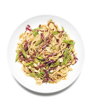 Peanut Noodles With Snap Peas and Cabbage