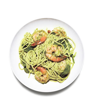 Spaghetti With Spinach Pesto