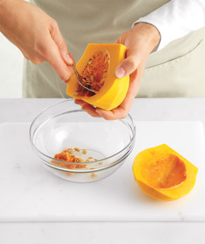 How to peel, seed and slice a butternut squash, Step 2