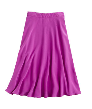J. Crew Liquid Silk Skirt