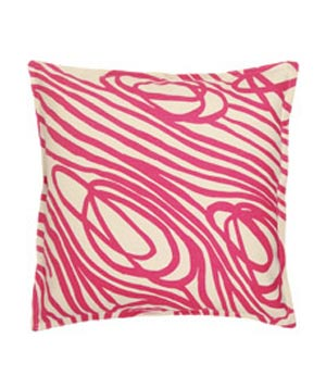 Fuchsia Rope Canvas Pillow