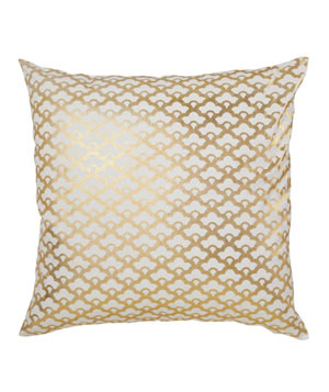 Gold Lotus Pillow
