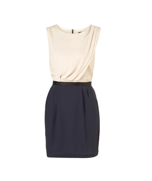 Topshop Color Block Shift Dress