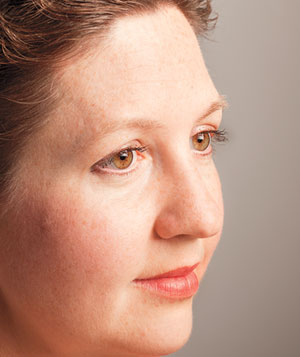 Close up portrait of breast cancer survivor
