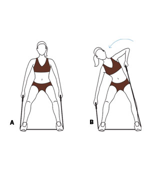 image relating to Resistance Band Workout Routine Printable named 6 Basic Resistance Band Workouts